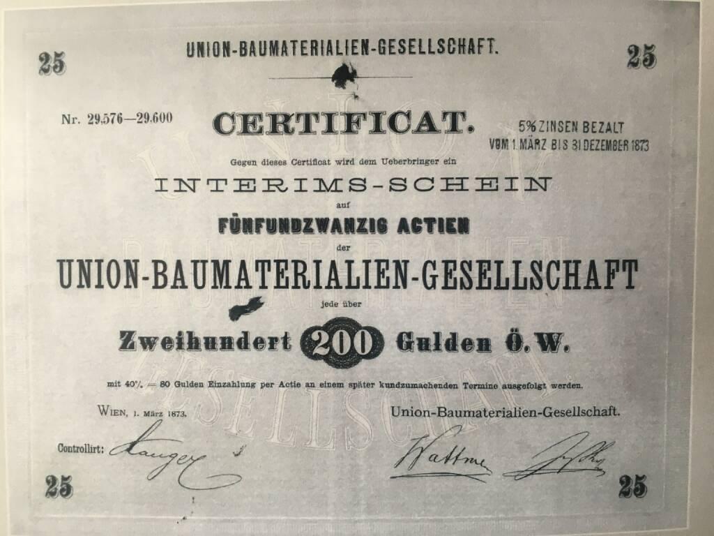 Die UBM-Aktie ist am 10. April 2018 genau 145 Jahre an der Börse, Bildquelle: UBM, © Aussender (11.04.2018)