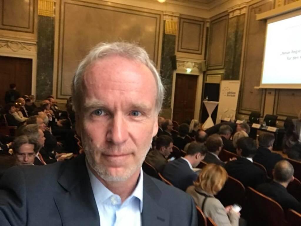 Beim Event Neue Regierung - Neue Impulse für den Kapitalmarkt!? in der IV (11.04.2018)