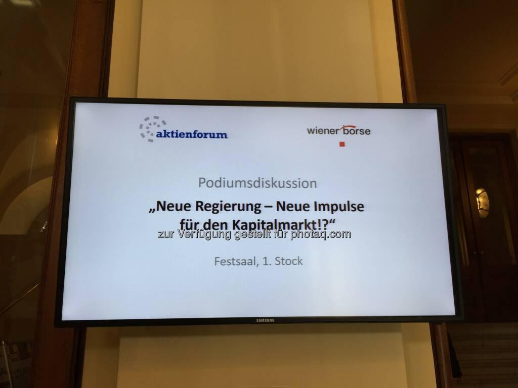 Neue Regierung, Neue Impulse für den Kapitalmarkt!? (12.04.2018)