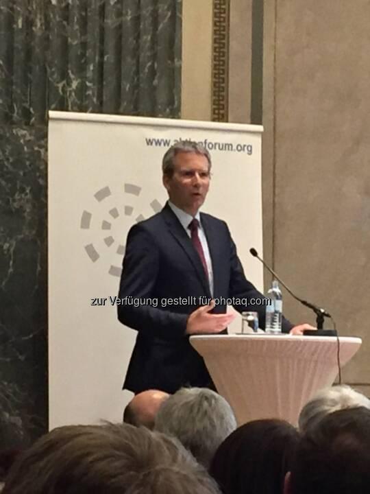 Finanzminister Löger