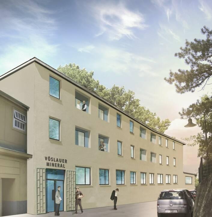 Zweitwohnsitze zur ganzjährigen Nutzung werden zurzeit und bis Januar 2019 im Thermalbad Vöslau errichtet. Zu den bereits bestehenden 120 Kabanen und 70 Appartements – für die es eine lange Warteliste gibt – kommen 16 neue Appartements. Die Bauzeit beträgt knapp ein Jahr, vermietet wird ab sofort. Bild: Vöslauer