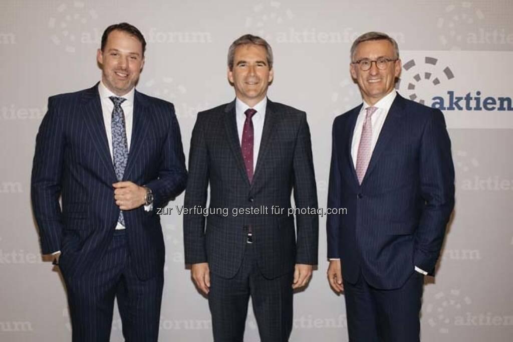 Karl Fuchs, Hartwig Löger, Robert Ottel, © Wiener Börse / Aktienforum (12.04.2018)