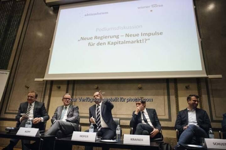 """Podiumsdiskussion """"Neue Regierung – Neue Impulse für den Kapitalmarkt!?"""""""