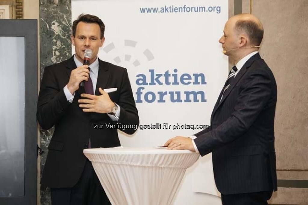 Christoph Boschan, Thomas Hofer, © Wiener Börse / Aktienforum (12.04.2018)