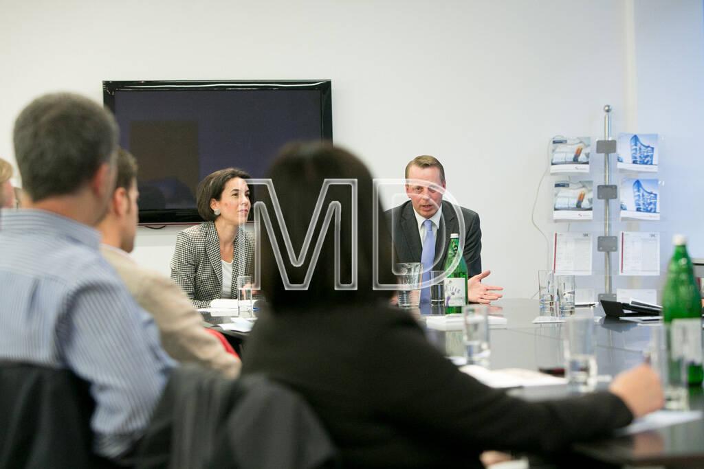 Kaja Schossmaier (Lehrgangsleiterin Real Estate, Donau-Universität Krems), Friedrich Wachernig (S Immo), © Martina Draper für S Immo (05.06.2013)
