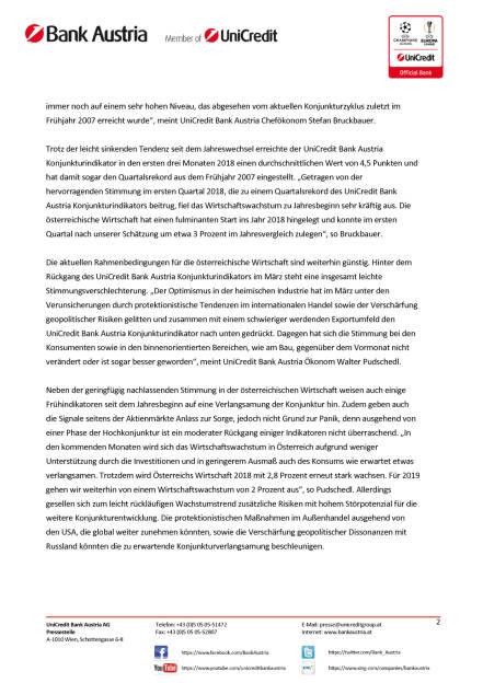 Unicredit: Bei weiterhin hohem Wachstumstempo nehmen globale Konjunktursorgen zu, Seite 2/5, komplettes Dokument unter http://boerse-social.com/static/uploads/file_2422_bei_weiterhin_hohem_wachstumstempo_nehmen_globale_konjunktursorgen_zu.pdf (13.04.2018)