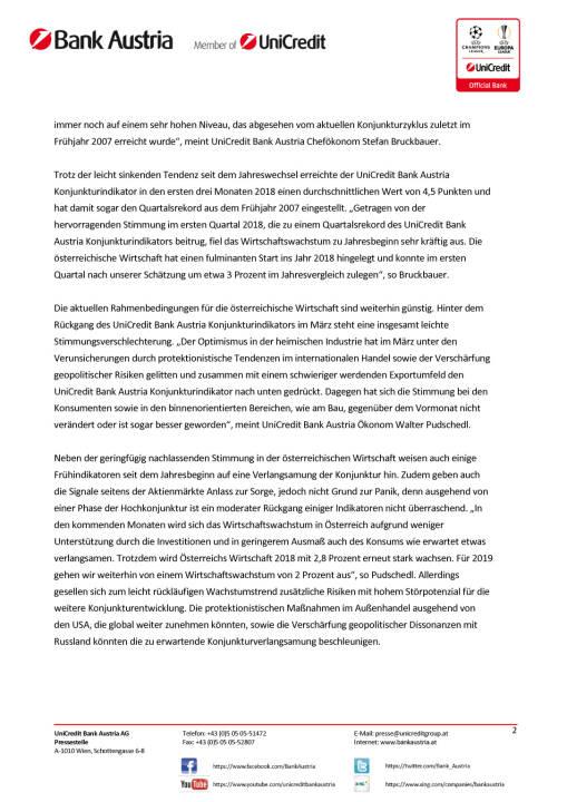 Unicredit: Bei weiterhin hohem Wachstumstempo nehmen globale Konjunktursorgen zu, Seite 2/5, komplettes Dokument unter http://boerse-social.com/static/uploads/file_2422_bei_weiterhin_hohem_wachstumstempo_nehmen_globale_konjunktursorgen_zu.pdf