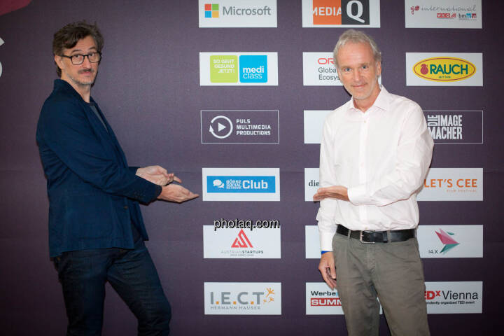 Börse Social Network Club vor dem Start: Josef Chladek (BSN), Christian Drastil (BSN)
