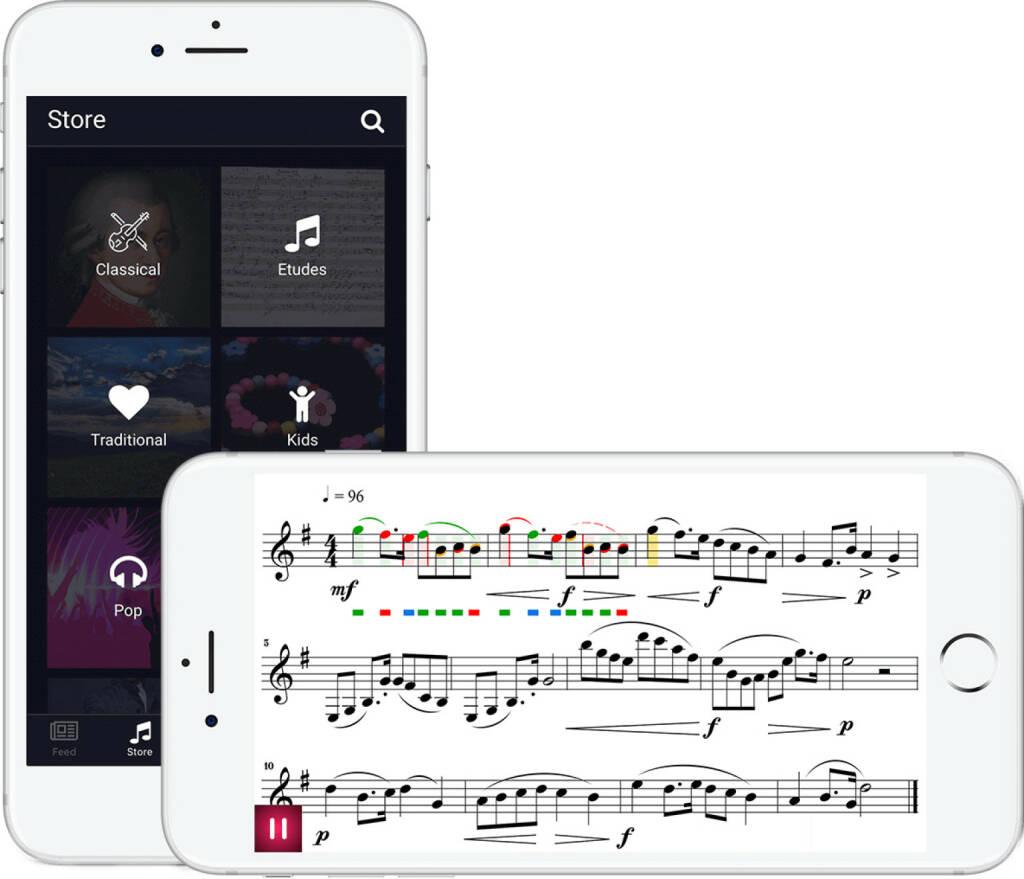 fun.music IT GmbH: tonestro - Neue App für MusikerInnen - 4 kreative Köpfe haben eine neue App für BlasmusikerInnen entwickelt. Durch sofortige Rückmeldung über die Korrektheit des Gespielten bietet tonestro eine gänzlich neuartige Unterstützung beim Üben. Nach über 1 Jahr intensiver Entwicklungsarbeit ist die App nun seit Mitte April 2018 in den App Stores von Google und Apple weltweit verfügbar; Fotocredit:fun.music IT GmbH (20.04.2018)