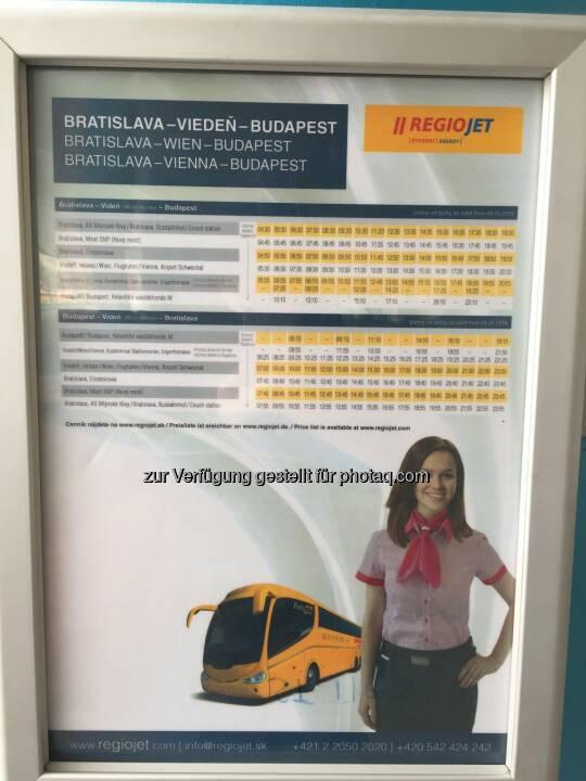RegioJet-Fahrplan