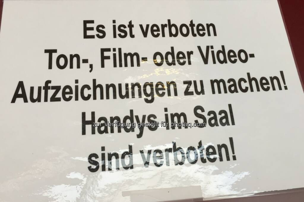 Kamera darf nicht rein. SBO-HV 2018 (25.04.2018)