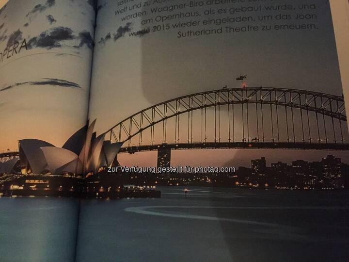 Eisenbahnbrücke bei der Oper in Sydney, aus dem Waagner-Biro-Geschäftsbericht 2017