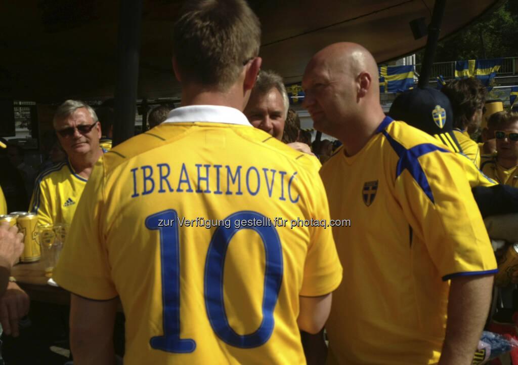 Die Schweden bei der Strandbar Herrmann, Ibrahimovic (07.06.2013)