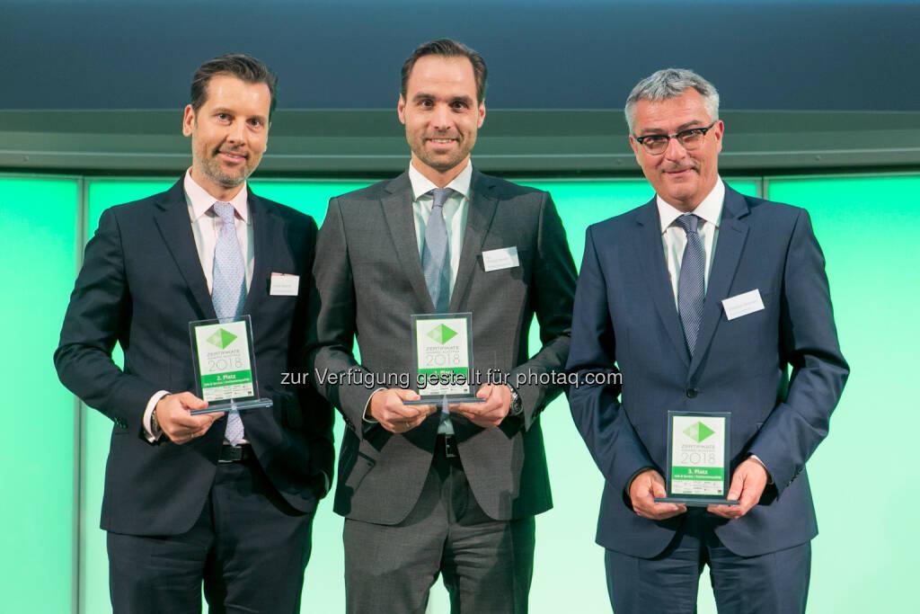 Andre Albrecht (Unicredit), Philipp Arnold (RCB), Christian Slovinec (Erste Bank), © Martina Draper (27.04.2018)