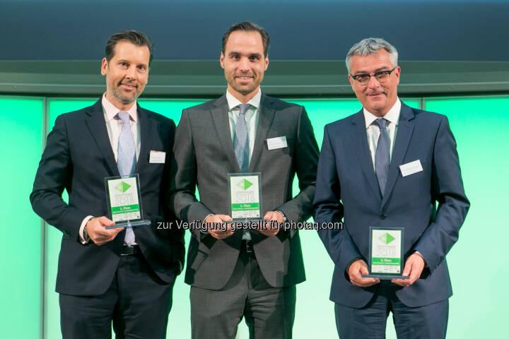 Andre Albrecht (Unicredit), Philipp Arnold (RCB), Christian Slovinec (Erste Bank)