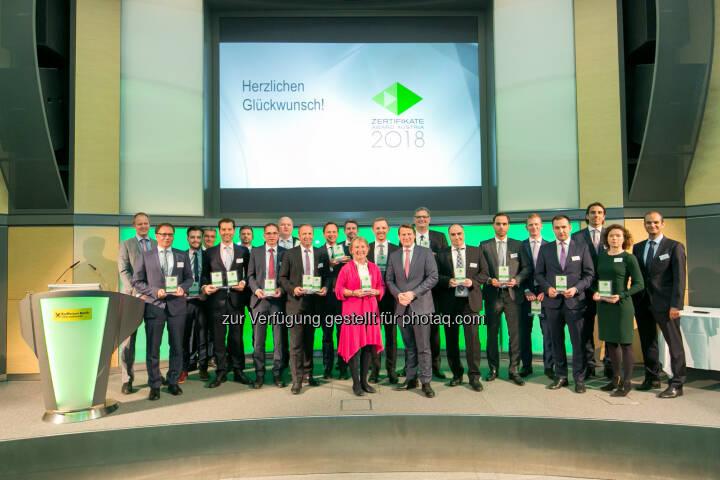 Zertifikate Award 2018 Siegerbild