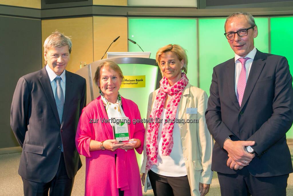 Johann Strobl (RBI), Heike Arbter (RCB), Valerie Brunner (RCB), Wilhelm Celeda (RCB), © Martina Draper (27.04.2018)