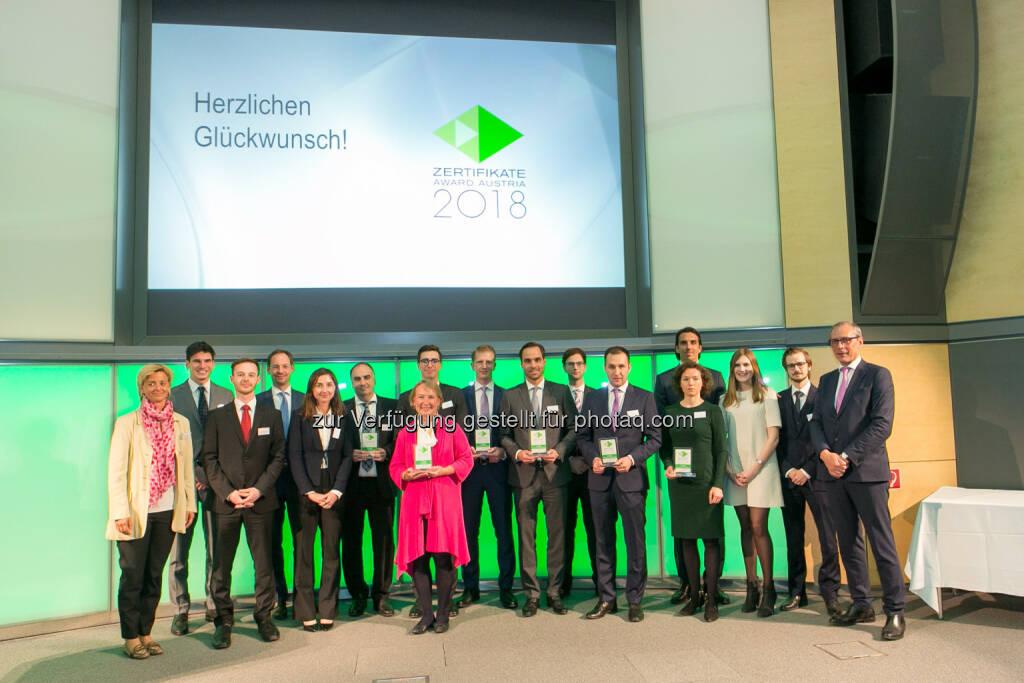 Zertifikate Award 2018 RCB, © Martina Draper (27.04.2018)