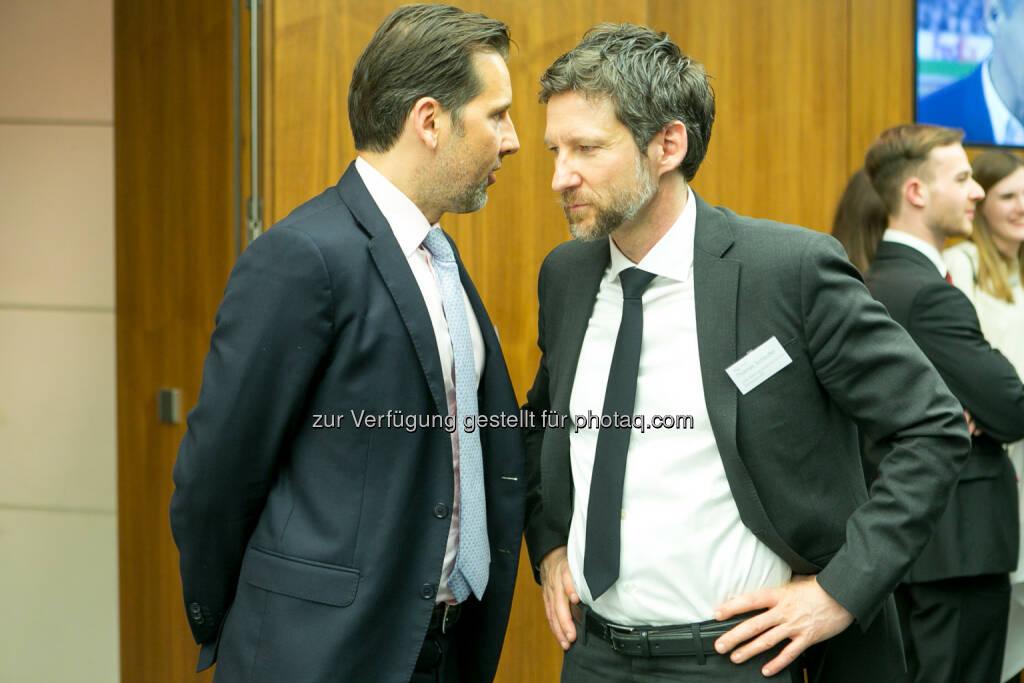 Andre Albrecht (Unicredit), Thomas Schaufler (Erste Bank), © Martina Draper (27.04.2018)