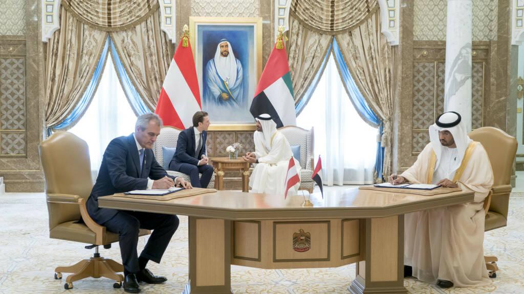 OMV und ADNOC unterzeichnen neues Offshore-Konzessionsabkommen, Fotocredit:Rashed Al Mansoori / Crown Prince Court - Abu Dhabi, © Aussender (29.04.2018)