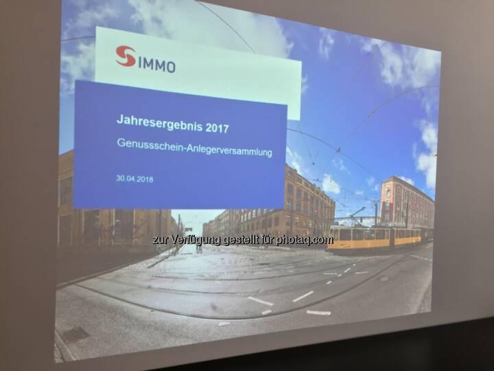 Präsentation, Genussschein-Anlegerversammlung 30.4.2018