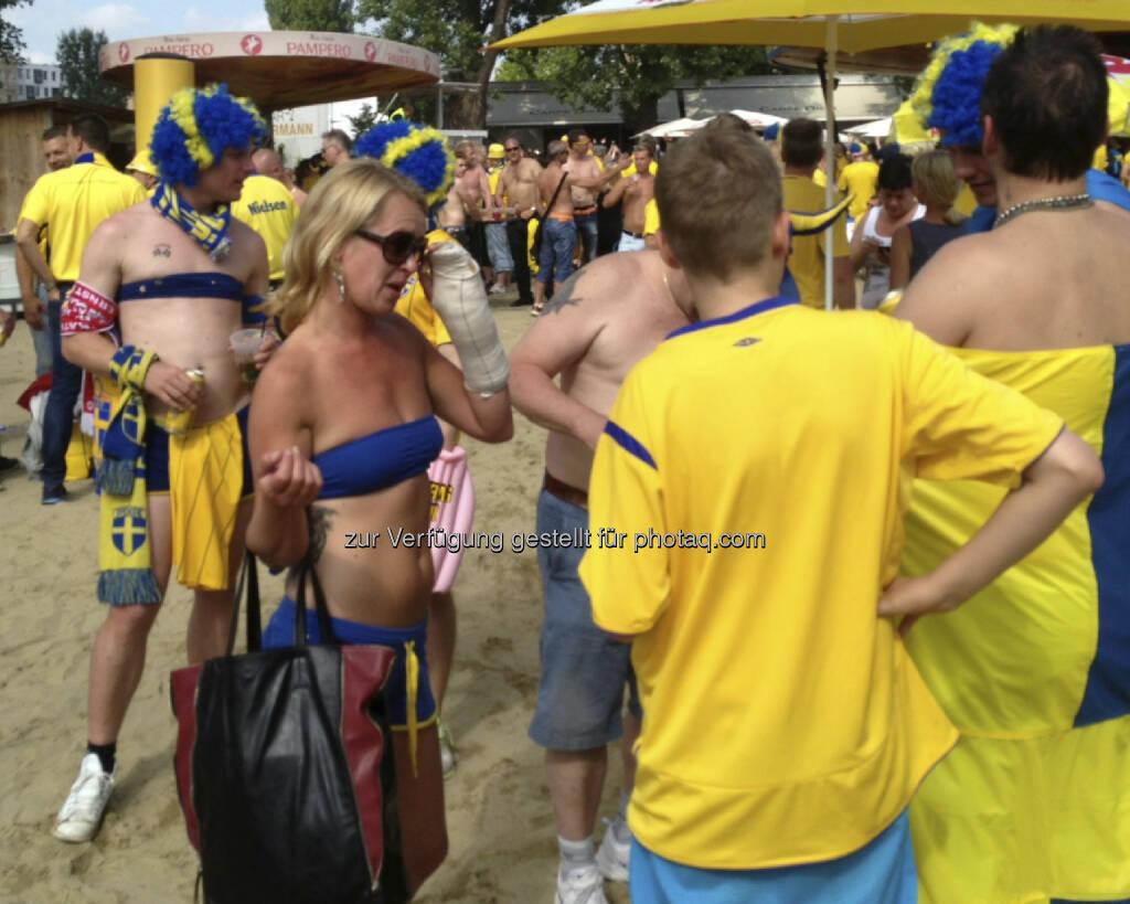 Die Schweden bei der Strandbar Herrmann, Sommer, Sonne (07.06.2013)