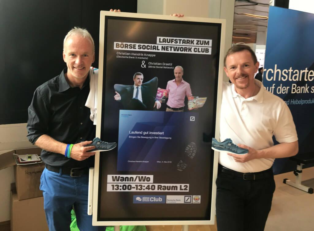 Christian Drastil, Christian-Hendrik Knappe Laufstark zum Börse Social Network Club (06.05.2018)