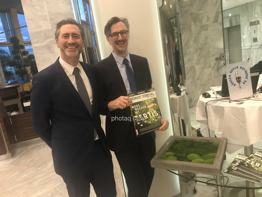 Martin Wenzl (Wiener Börse), Josef Chladek (BSN) (06.05.2018)