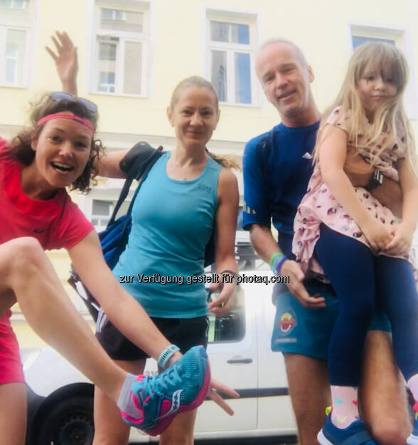 Fahrgemeinschaft: Marianne Kögel, Diana Berisa-Klusoczki , Vater und Tochter (10.05.2018)