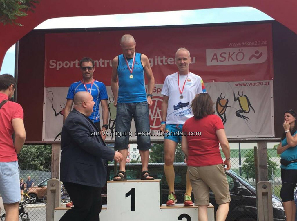 AK-Sieger Emil Jaidhauser mit Helmut Wohak und Christian Drastil (10.05.2018)