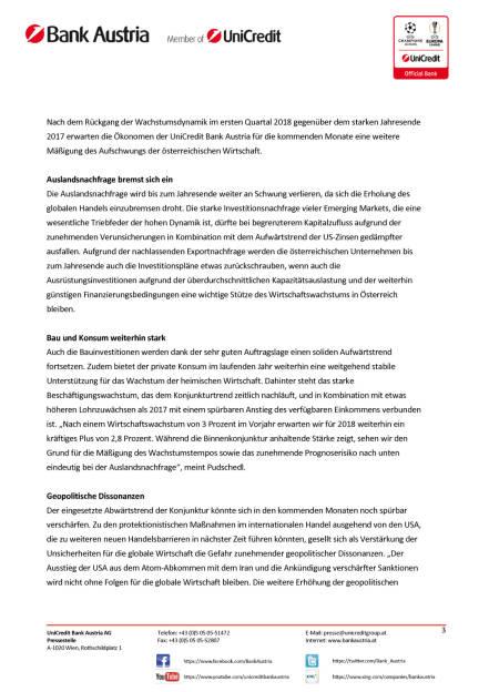 UniCredit Bank Austria Konjunkturindikator: Rückgang des Wachstumstempos in Österreich aufgrund zunehmender globaler Unsicherheiten, Seite 3/6, komplettes Dokument unter http://boerse-social.com/static/uploads/file_2423_unicredit_bank_austria_konjunkturindikator_ruckgang_des_wachstumstempos_in_osterreich_aufgrund_zunehmender_globaler_unsicherheiten.pdf (15.05.2018)