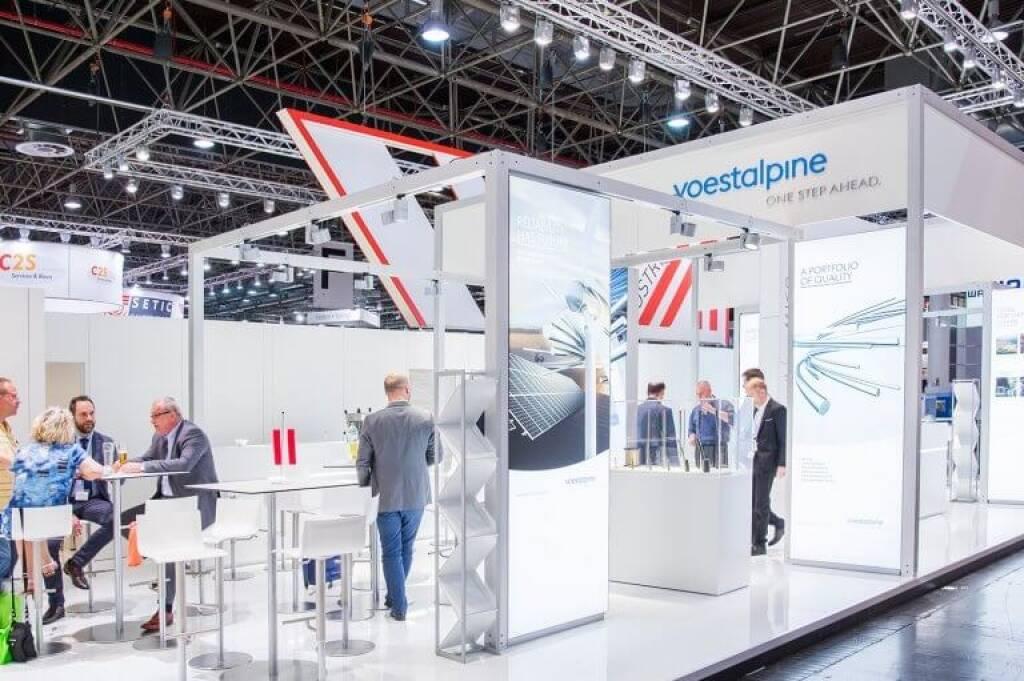 Auf der diesjährigen Tube und Wire in Düsseldorf war die voestalpine mit zahlreichen Gesellschaften vertreten und konnte ihre Produkte und Lösungen erstmalig mit dem neuen Messestand präsentieren. Bildquelle: voestalpine (16.05.2018)
