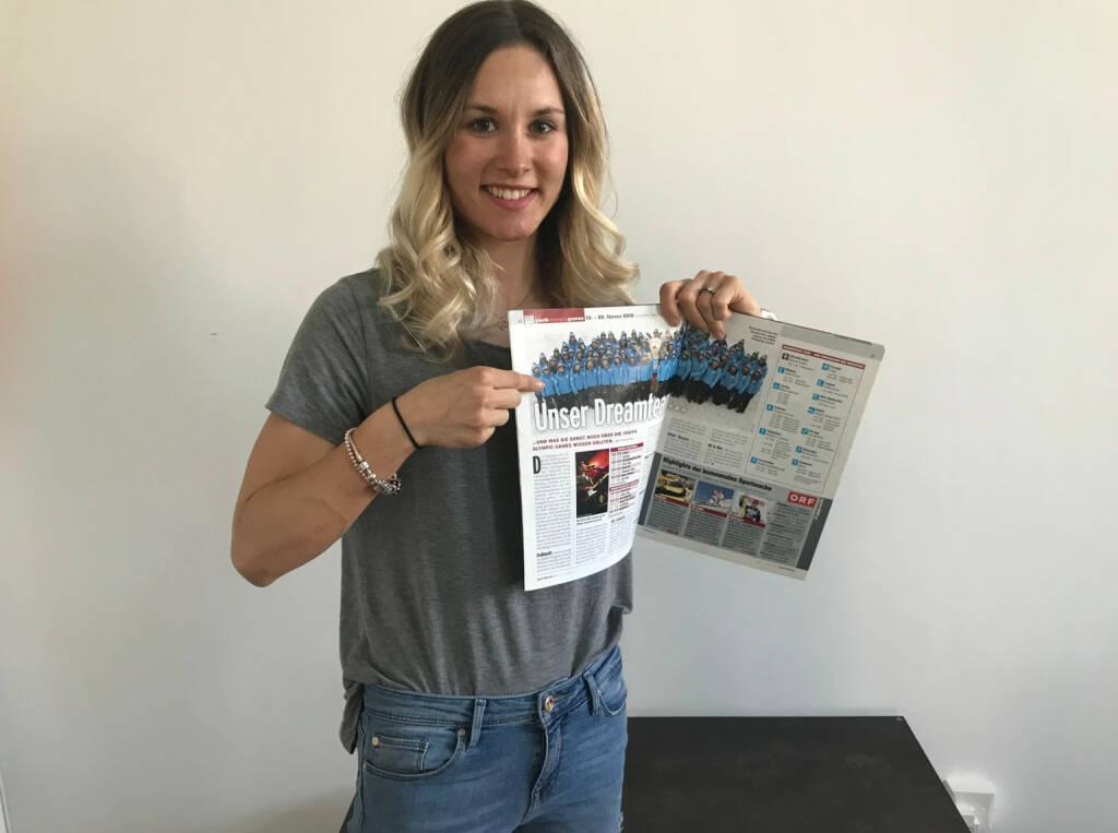Lisa Unterweger und ihr Artikel in der Sport Woche (17.05.2018)