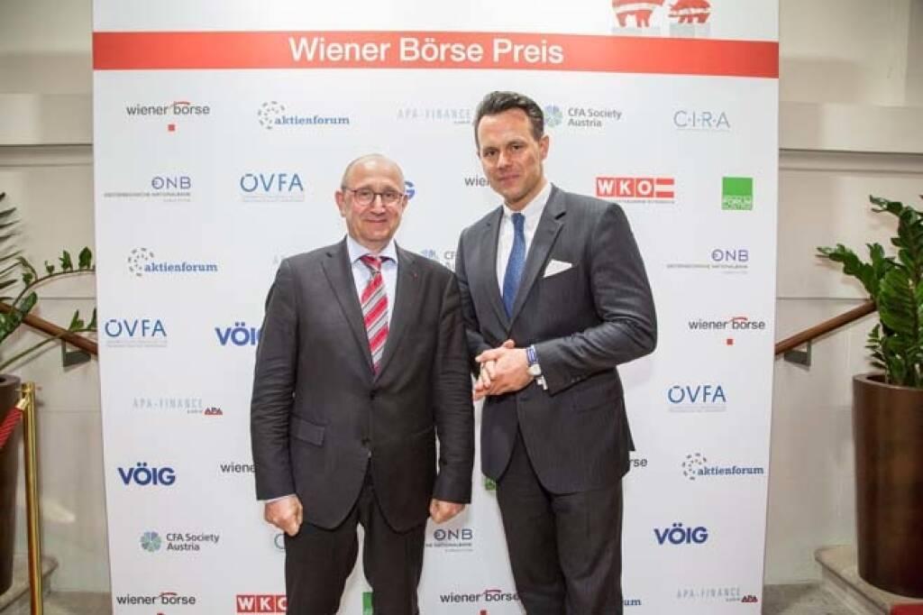 Wiener Börse-Vorstände Ludwig Nießen und Christoph Boschan; Credit: APA-Fotoservice, © APA-Fotoservice/Wiener Börse (22.05.2018)