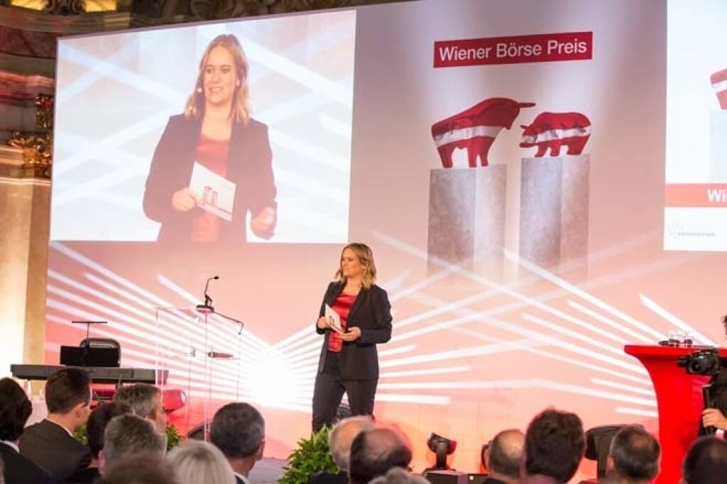 Moderatorin Corinna Milborn (Puls4), Credit: APA-Fotoservice, © APA-Fotoservice/Wiener Börse (22.05.2018)