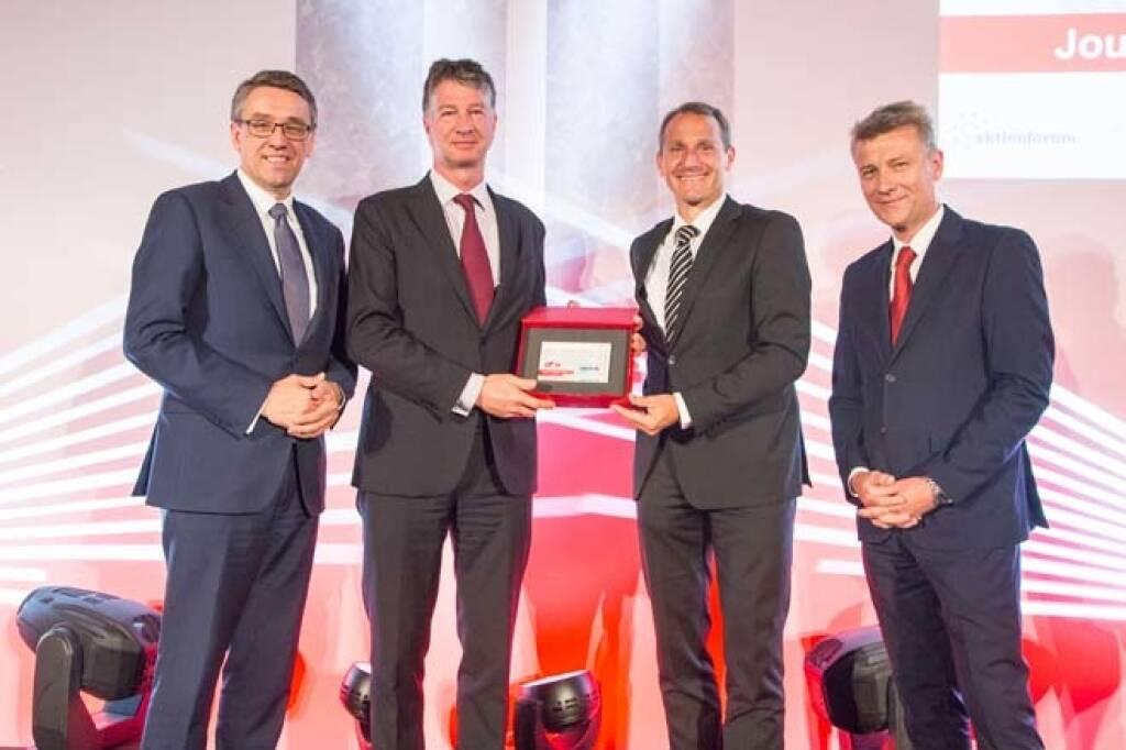 Wiener Börse Preis, Journalistenpreis, 3. Platz: Erste Group Bank AG, Credit: APA-Fotoservice, © APA-Fotoservice/Wiener Börse (22.05.2018)