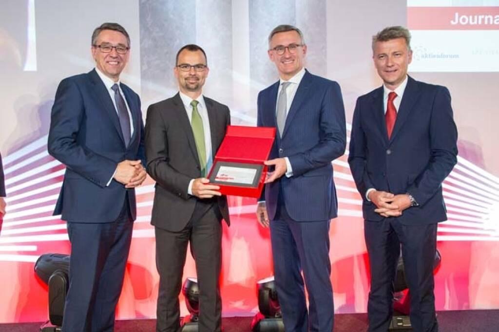 Wiener Börse Preis, Journalistenpreis, 2. Platz, voestalpine, Credit: APA-Fotoservice, © APA-Fotoservice/Wiener Börse (22.05.2018)