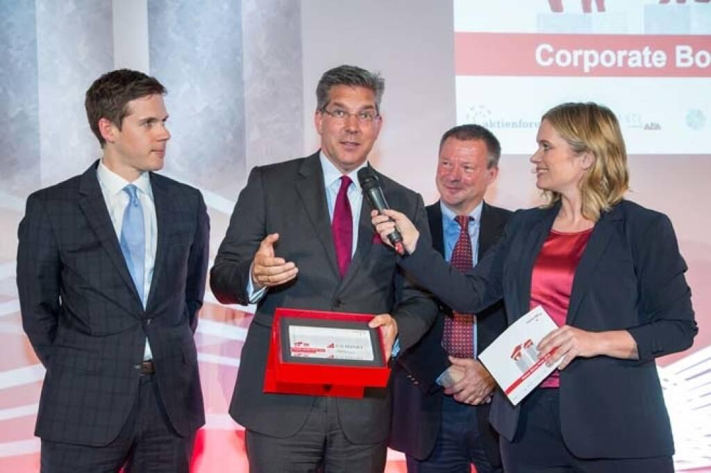 Wiener Börse Preis, Corporate Bond Preis, 1. Platz CA Immo, Credit: APA-Fotoservice, © APA-Fotoservice/Wiener Börse (22.05.2018)