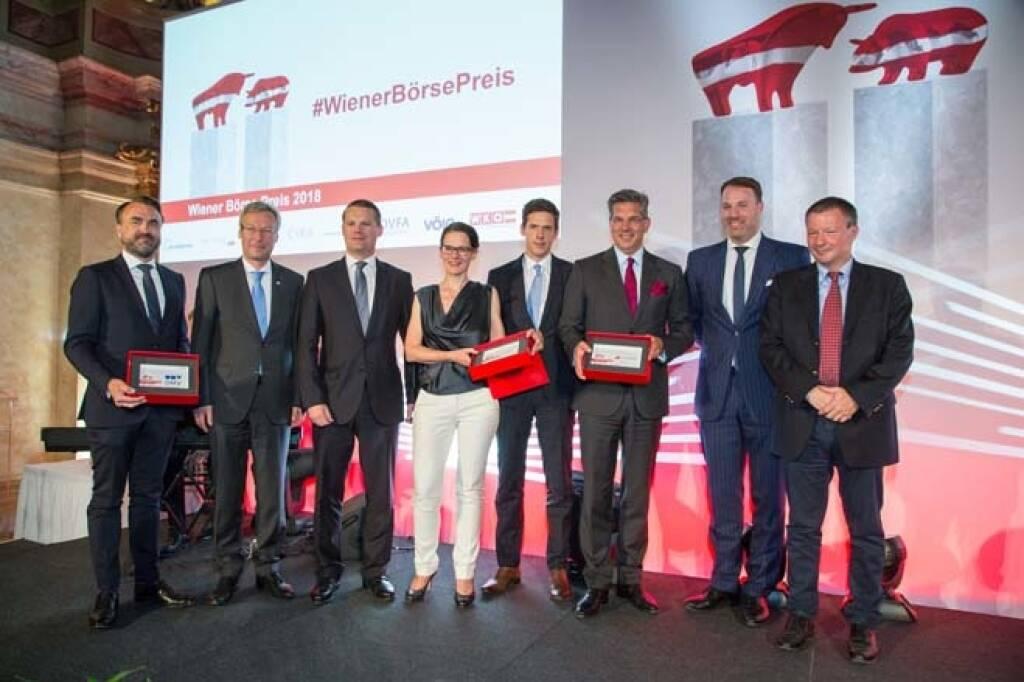 Wiener Börse Preis, Corporate Bond Preis, alle Sieger, Credit: APA-Fotoservice, © APA-Fotoservice/Wiener Börse (22.05.2018)