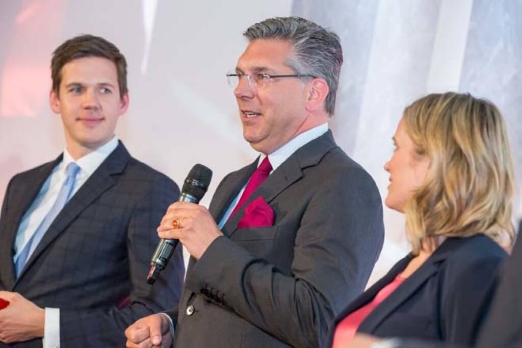 Gewinner ATX-Preis, CA Immo CFO Hand Volkert Volckens, IR-Chef Christoph Thurnberger, Credit: APA-Fotoservice, © APA-Fotoservice/Wiener Börse (22.05.2018)