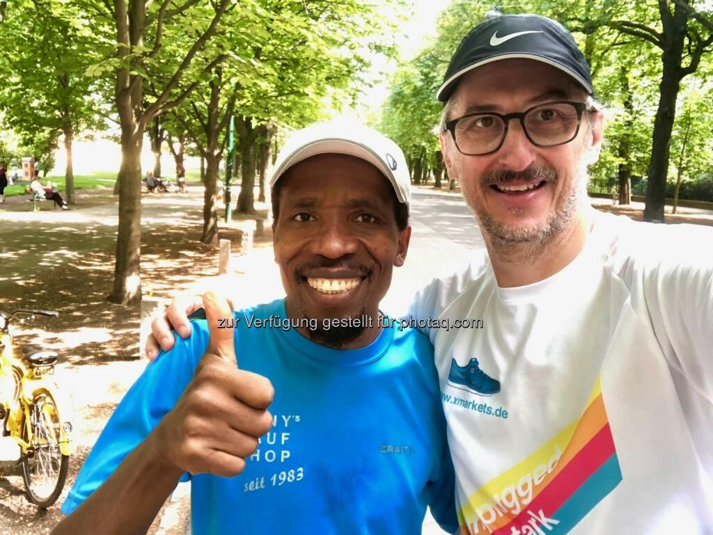 Alfred Sungi und Josef - runplugged laufstark (22.05.2018)