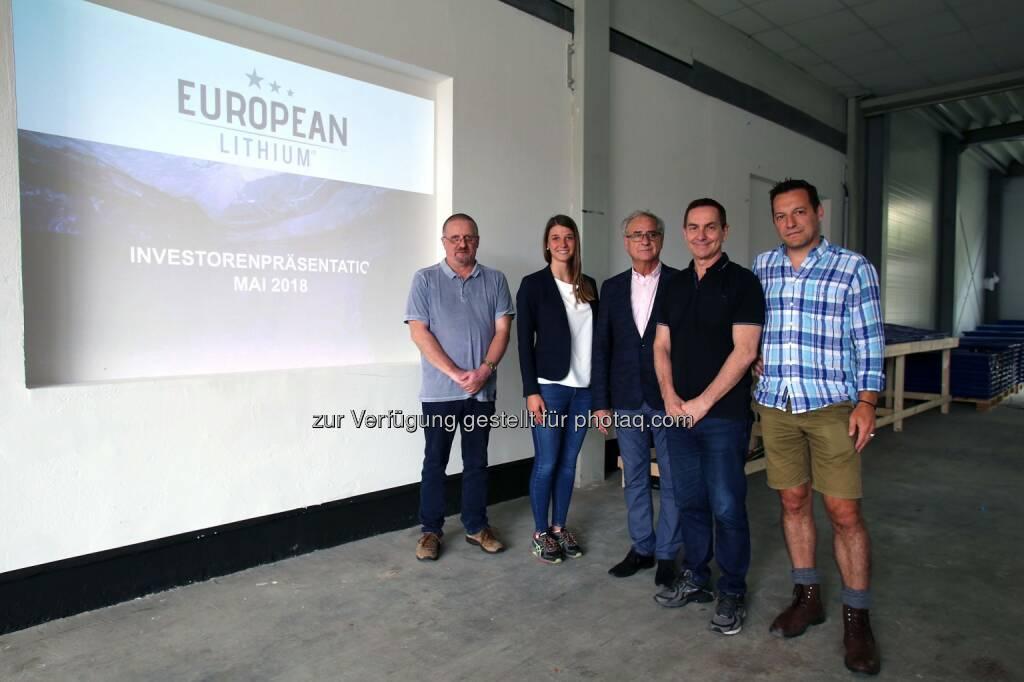 Dietrich Wanke, Katharina Löckinger, Tony Sage, Stefan Müller, © European Lithium (31.05.2018)