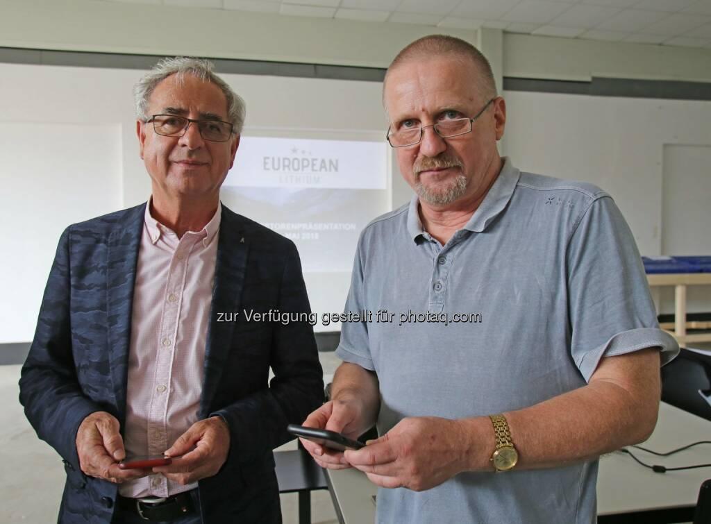 Dietrich Wanke (rechts), © European Lithium (31.05.2018)