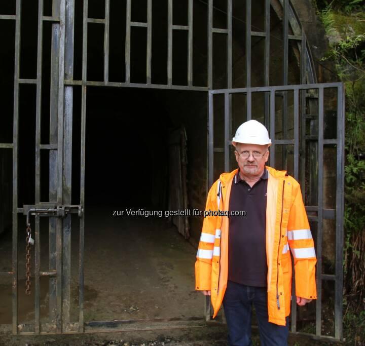 Dietrich Wanke, MinenTag European Lithium 2018, Eingang Stollen