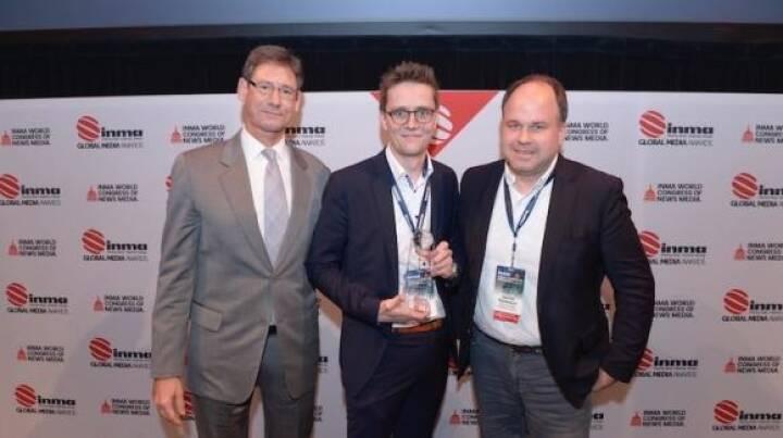 """Russmedia Digital durfte sich gleich über fünf Auszeichnungen im Rahmen der INMA """"Global Media Awards"""" freuen. Digitalkonferenz """"Interactive West 2018"""" als einziges österreichisches Projekt mit INMA Award ausgezeichnet. © Russmedia"""