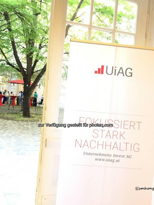 Gemütlicher Ausklang der UIAG-HV 30.5.18 Neue Börse Wallnerstraße