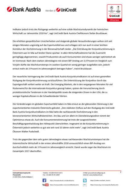 Bei anhaltender Hochkonjunktur verliert Österreichs Wirtschaft an Schwung, Seite 2/5, komplettes Dokument unter http://boerse-social.com/static/uploads/file_2424_.pdf (15.06.2018)