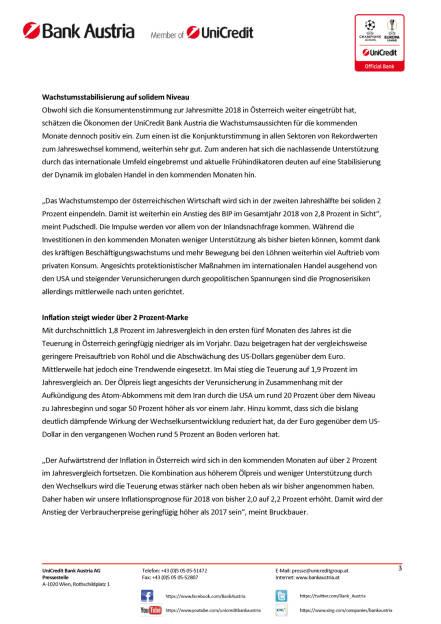 Bei anhaltender Hochkonjunktur verliert Österreichs Wirtschaft an Schwung, Seite 3/5, komplettes Dokument unter http://boerse-social.com/static/uploads/file_2424_.pdf (15.06.2018)