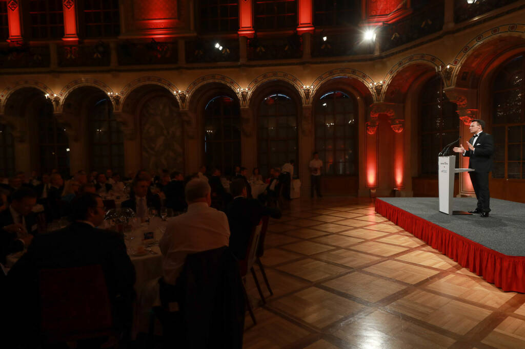 Wiener Börse-CEO Christoph Boschan beim Gala-Dinner im Palais Ferstel, in dem die Wiener Börse zwischen 1860 und 1872 ihren Sitz hatte; Credit: Wiener Börse (21.06.2018)