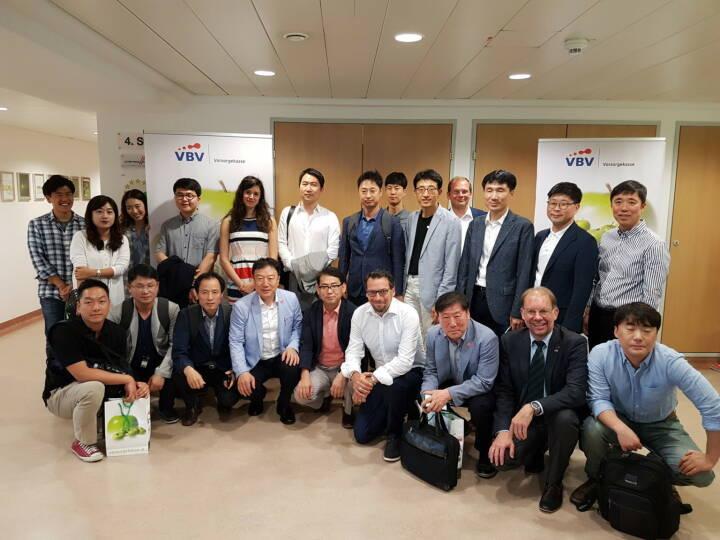 Great Place To Work Institute bringt Korean Teachers Credit Union zum Erfahrungsaustausch nach Wien zur VBV - Vorsorgekasse. Copyright: VBV